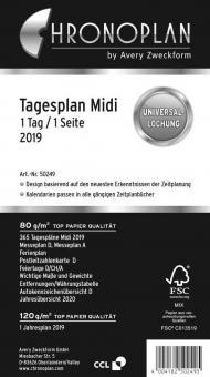 Chronoplan Midi A6 Tagesplaner 2019 1Tag/1Seite Deutsch Kalender Einlage 50249