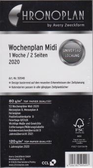 Chronoplan 2020 Midi A6 Kalendereinlage 1Woche 2Seiten DEU + Jahresplaner 50540