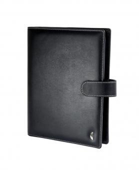Chronoplan A5 Slim Schwarz VL Kunstleder 30mm Terminplaner Organizer 50107