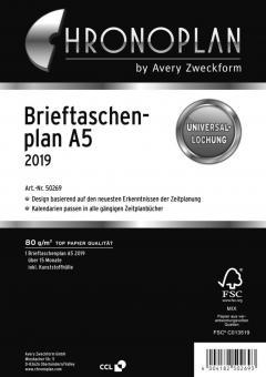 Chronoplan A5 Brieftaschenplaner 2019 Kalender Einlage 15 Monate Deutsch 50269