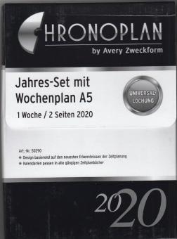 Chronoplan 2020 A5 Jahres Set Wochenplan Kalender 1Woche 2Seiten Jahresbox 50290