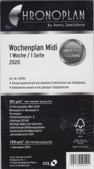 Chronoplan 2020 Midi A6 Wochenblätter 1Woche 1Seite Kalender + Jahresplan 50550