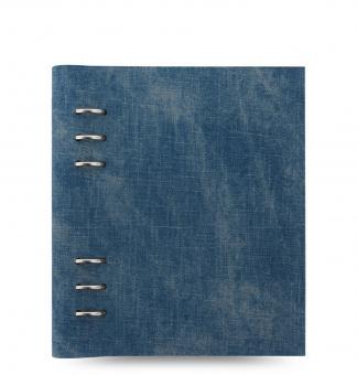 Filofax Clipbook A5 Patterns Denim Jeansstoff Notizbuch 6er Ringung 25mm 145002