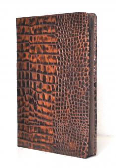 Succes Croco Grazia A4 Schreib - Konferenzmappe ZIP Braun Kalbsleder PB069CG01