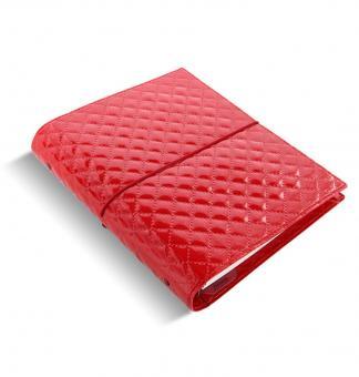 Filofax Domino Luxe A5 Rot Organiser 30mm Zeitplaner Agenda Verschlußgummi 27985
