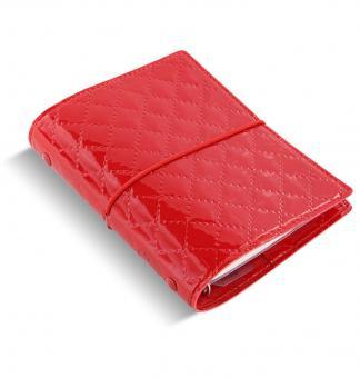 Filofax Pocket Rot Organizer A7 Zeitplaner Domino Luxe Gummibandverschluß 027991