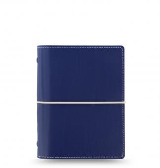 Filofax Domino Pocket Navy Blau Terminplaner 19mm A7 Kunstleder Organizer 027984