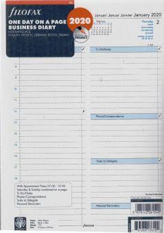 Filofax A4 2020 Kalendereinlage Kalender Einlage 1Tag 1Seite Kalendarium 2068719