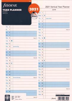 Filofax A4 2021 Leporello Jahresplaner Kalender Einlage Faltplaner 21-68702