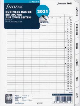 Filofax 2021 A5 Kalender Monatsplaner 1Monat 2Seiten Kalenderblätter 21-68544