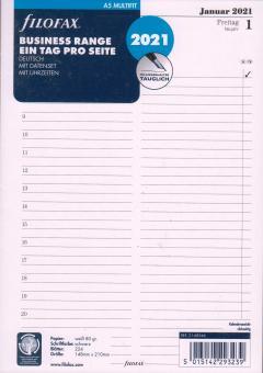 Filofax 2021 A5 Kalender Einlage Tagesblätter 1Tag 1Seite Kalendarium 21-68546
