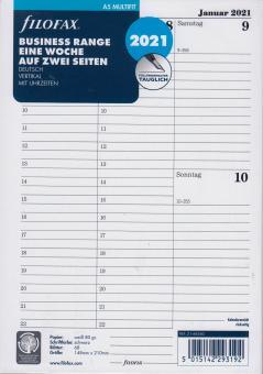 Filofax 2021 A5 Kalender Kalendarium 1Woche 2Seiten Wochenblätter DEU 21-68540