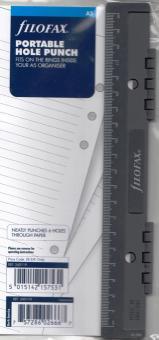 Filofax A5 Universallocher 6-fach Locher Mehrfachlocher einheftbar Lineal 340119