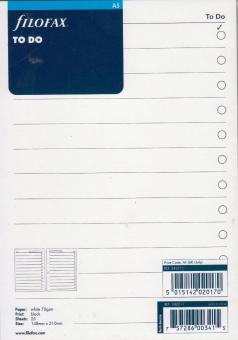 Filofax A4 Kalendereinlage To Do  Aufgaben Notizpapier Notizblätter Timer 294073