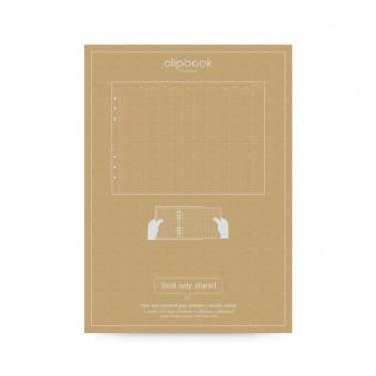 Filofax Clipbook Refill A5 undatierter Jahresplaner 5 Ergänzungseinlagen 345001