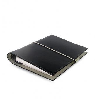 Filofax Domino A5 Schwarz Organiser 30mm Zeitplaner Verschlußband Kalender 27868