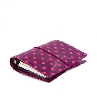 Filofax Domino Patent Pocket Aubergine Spot Terminplaner Lack A7 Kalender 022519