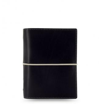 Filofax Domino Pocket Schwarz Terminplaner Kunstleder A7 19mm Organizer 027846