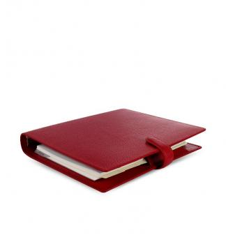 Filofax Finsbury A5 Cherry Rot Organiser Terminplaner 30mm Leder Kalender 022498