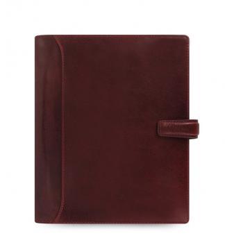 Filofax Lockwood A5 Garnet Rot Terminplaner 25mm Organiser Leder Kalender 021689