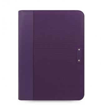 Filofax Microfiber Purple Lila A4 Konferenzmappe ZIP + Rechner Microfaser 829878