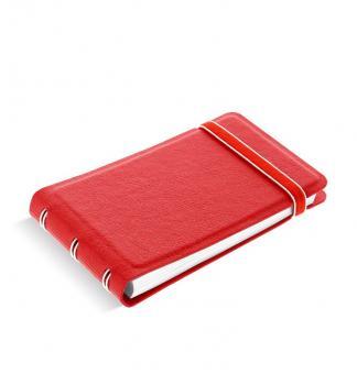 Filofax Notebook Smart Rot 115016 Mini Notizbuch softes Kunstleder-Cover NEU