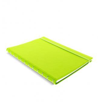 Filofax Notebook A4 Pear Grün Notizbuch softes Kunstleder nachfüllbar 115028