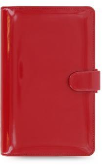 Filofax Patent Compact Rot Terminplaner Organiser 15mm A6 Kalender Lack 022459