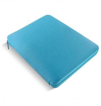 Filofax Finsbury A4 Zip Folio Aqua Konferenzmappe Schreibmappe Leder 840011