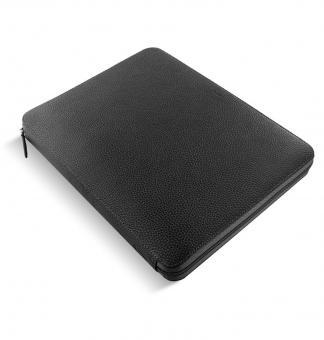 Filofax Finsbury A4 Zip Folio Schwarz Konferenzmappe Schreibmappe Leder 840009