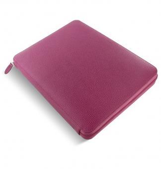 Filofax Finsbury A4 Zip Folio Raspberry Konferenzmappe Schreibmappe Leder 840010
