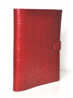 Succes Firenze A4 Schreibmappe Rot Konferenzmappe 16mm Leder 4-Ringung PB132FI12