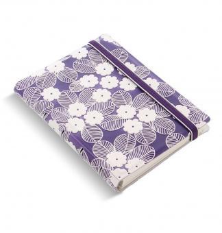 Filofax Notebook Pocket Impressions Purple / Weiß Notizbuch A7 Kunstleder 115072