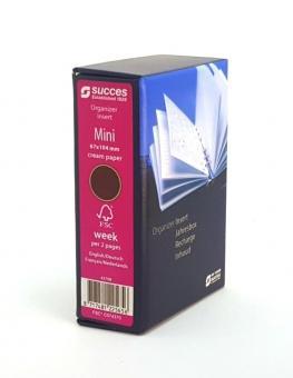Succes Mini 2020 Jahresbox Kalender 1Woche 2Seiten Cream Wochenblätter IMQ7C.20