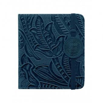 Letts 2020 Terminkalender Mini Buchkalender Baroque Blau 2Tage 1Seite 20-080615