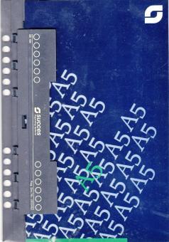 Succes A5 multifit Locher + Lineal Kunststoff einheftbar Organiser Einlage XE186