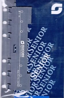 Succes Senior Kunststoff-Locher 6fach Locher + Lineal für Kalendereinlagen XS186