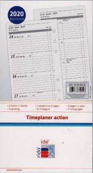 rido/idé A6 Timeplaner Action 2020 Wochenkalendarium 1W/2S 4-sprachig 706991620