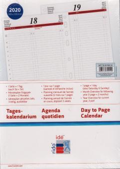Rido-Idé A5 2020 Kalender Einlage 1Tag 1Seite  Timing1 Tagesblätter 70-6590020