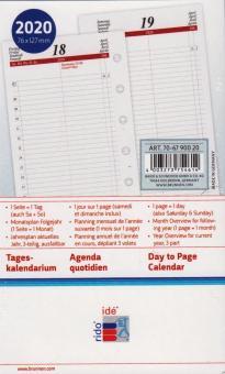 Rido-Idé 2020 A7 Kalendereinlage 1Tag 1Seite Timing3 Tageskalendarium 70-6790020