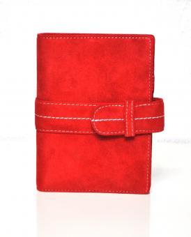 Succes Full Colour Senior Rot Velour-Kalbsleder Organizer Terminplaner PS212FS12