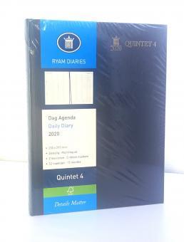 RYAM 2020 A4 Terminkalender Buchkalender Quintet 4 Blau 1Tag 1Seite 86758033