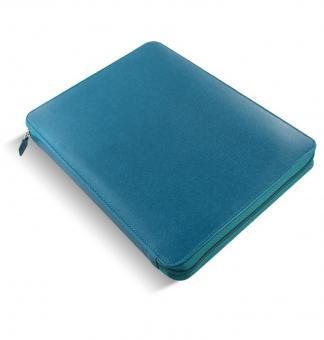 Filofax Saffiano A4 Zip Folio Aquamarine Konferenzmappe mit RV Kunstleder 840018