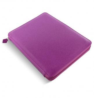 Filofax Saffiano A4 Zip Folio Raspberry Konferenz-Schreibmappe Kunstleder 840017