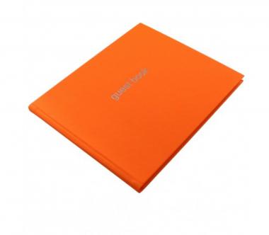 Letts Dazzle Gästebuch Orange Quarto 128 Seiten Landscape Guest Book 90017P