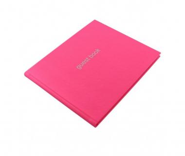 Letts Dazzle Gästebuch Pink Quarto 128 Seiten Landscape Guest Book 90015P