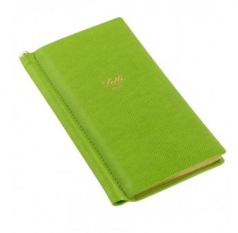Letts Note Legacy Slim Pocket Grün Notizbuch + Stift Liniert Lederlook 90008P