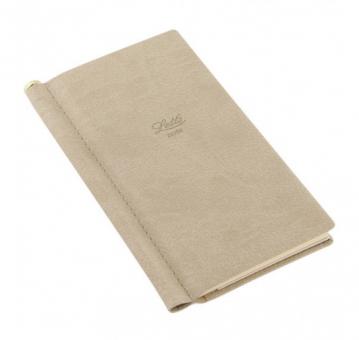 Letts Note Origins Slim Pocket Stone Grau Notizbuch + Stift Liniert 90012P