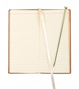 A7 Notizbuch Letts Note Origins Slim Pocket Braun + Stift Liniert Kladde 90011P