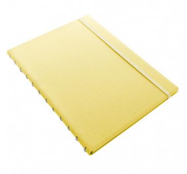 Filofax Notebook Classic Pastels A4 Lemon Gelb Notizbuch Kunstleder 115094